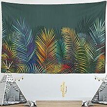 KUKUALE Einfarbig Pflanze Tapisserie Wandbehang