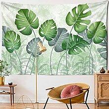 KUKUALE Grünes Blatt Pflanze Tapisserie Wegerich