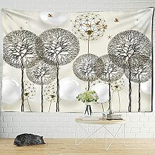 KUKUALE Löwenzahn Ballon Tapisserie Wand Pflanze