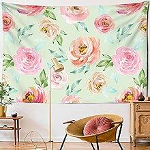 KUKUALE Pflanze Blume Tapisserie Wandbehang Kunst
