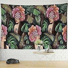 KUKUALE Tropische Pflanze Tapisserie Wandbehang