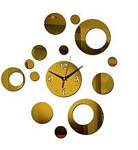 Kuletieas 2019 3D acryl Spiegel wanduhr Uhr große