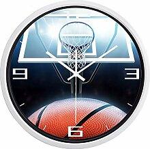 Kuletieas Basketball-Wanduhr Stil Home Decoration