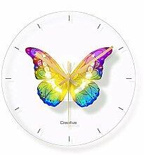 Kuletieas Glas Schmetterling Wanduhr Für