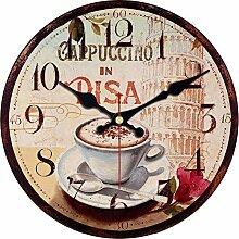 Kuletieas Kaffeetasse Design Wanduhr Wanduhr
