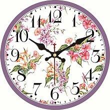 Kuletieas Vintage Wanduhr Blume Design Wanduhr