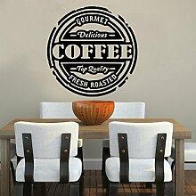 Kult Kanvas Küche Sprüche Zitate frischen Kaffee Wand Aufkleber art, schwarz, 60x 60cm