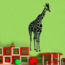 Kult Kanvas Wandaufkleber, Motiv: Riesen-Giraffe, gelb, Large 60cm x 132cm