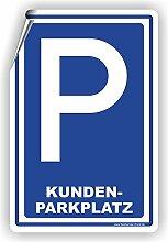 KUNDENPARKPLATZ - Parkplatzschild / D-010 (40x60cm Aufkleber)