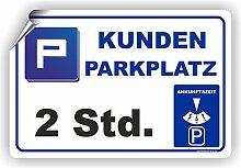 KUNDENPARKPLATZ - PARKUHR - 2Std. / D-019 (60x40cm Aufkleber)
