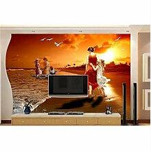 Kundenspezifische 3D-Fototapete Vlies Strand
