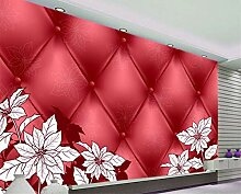 Kundenspezifische Blumentapete, stereoskopische