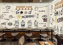 Kundenspezifische Retro-Tapete, Kaffee,