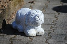 Kunert-Keramik Hund aus hellem,grauen