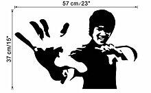 Kung Fu Promi Wandaufkleber Wandbild Wohnzimmer