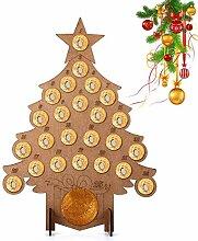 Kungfu Mall Holz-Adventskalender für Weihnachten,