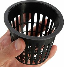 Kungfull Mall 10pcs Schwarz Blumetopf Kunststoff Mesh Netz Pot Baskets Garten Anlage Wachsen Cup