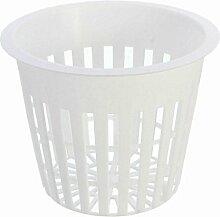 Kungfull Mall 10pcs Weiße Kunststoff Greifen Netz Pot Baskets Gartenanlage Wachsen Cup
