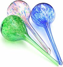 Kungfull Mall 3pcs Garten Glasball Automatische Drip Bewässerung Steuerung Werkzeug Topfpflanze
