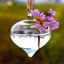 Kungfull Mall Onion Form hängender Glas Vase Wasserkulturanlagen Pflanze Blume Container