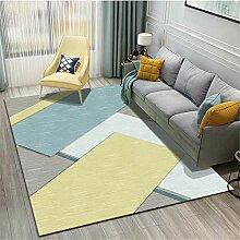 Kunsen Teppich Für Balkon Wetterfest gelb