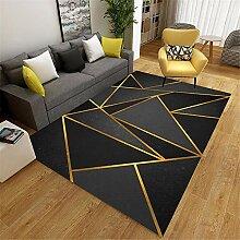 Kunsen Teppich für Schlafzimmer Der Schwarze