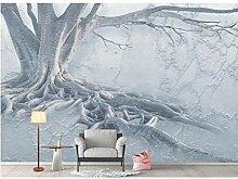 Kunst 3D Wandbild Tapete Baumwurzel Relief Tapete