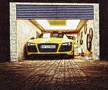 Kunst Bild Audi R8 Spyder, V8 R10, Roadster Cabrio