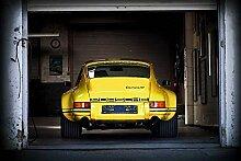 Kunst Druck Bild Porsche 911 RS Garage