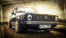 Kunst Druck Bild Volkswagen VW Ur Golf I 1 brutal