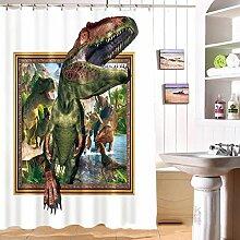 Kunst Duschvorhänge 3D Duschvorhänge Badezimmer Duschvorhang Wasserdichte Vorhang Dicker Duschvorhänge mit Haken Mit Haken ( größe : 165*180cm )