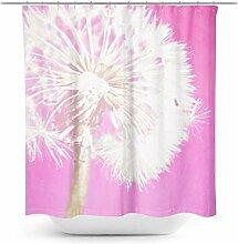 Kunst-Duschvorhang Pusteblume Dekor Frühling