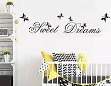 Kunst Englisch Sweet Dreams Wandaufkleber