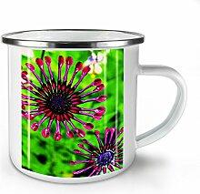 Kunst Foto Natur Blume Weiß Emaille-Becher 10 oz | Wellcoda