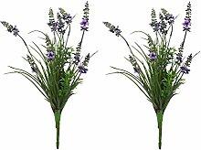 Kunst-Pflanze (B - Lavendel-Strauß 37cm) 2 Stück