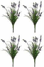 Kunst-Pflanze (B - Lavendel-Strauß 37cm) 4 Stück