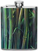 Kunst Pflanze Bambus tragbare Edelstahl Flagon