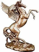 Kunst Skulptur Flaschenhalter,Pegasus Harz Statue
