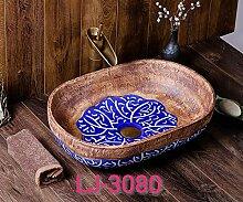 Kunst über Theke Becken Waschbecken Keramik