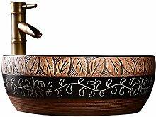 Kunst über Theke Keramik Sandwich Taille Trommel