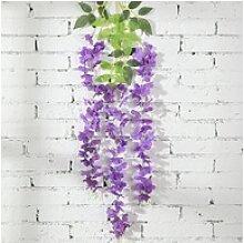 Kunstblume 12 Stück Künstliche Glyzinienblume