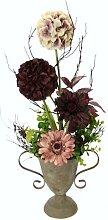 Kunstblume Allium und Gerbera in Vase Die