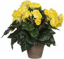 Kunstblume Begonie Blumengesteck im Topf Die