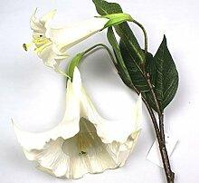 Kunstblume Datura Engelstrompete Stechapfel Weiß