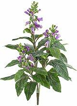 Kunstblume Fingerhut mit 30 Blättern, 3 Blütenrispen, lila, 60 cm - Künstliche Blumen / Deko Pflanzen - artplants