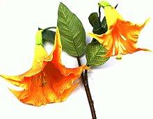 Kunstblume Gelb/Orange Datura Engelstrompete