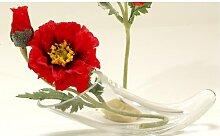 Kunstblume, künstliche Mohnblume Klatschmohn mit Knospe 23cm rot Formano (3,50 EUR / Stück)