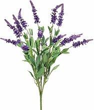 Kunstblume Lavendel mit 15 violetten Rispen 50 cm