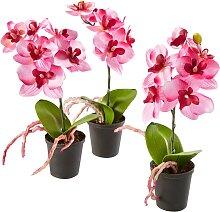 Kunstblume Orchidee (3-tlg. Set), rosa