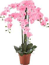 Kunstblume Orchidee XXL, weiß